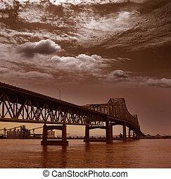 Louisiana Horace Wilkinson Bridge Mississippi river -...