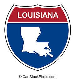 Louisiana interstate highway shield - Louisiana American...