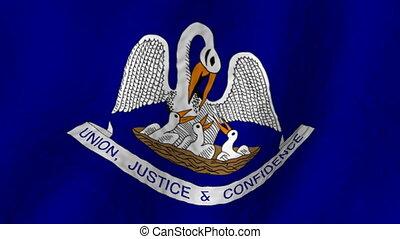 Louisiana looping flag