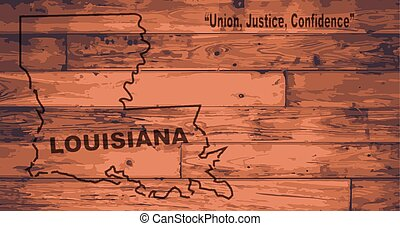 Louisiana Map Brand