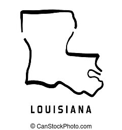 Louisiana simple logo. State map outline - smooth simplified US state shape map vector.