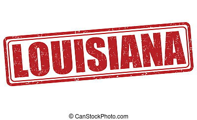 Louisiana grunge rubber stamp on white background, vector illustration