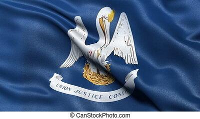 Louisiana state flag seamless loop