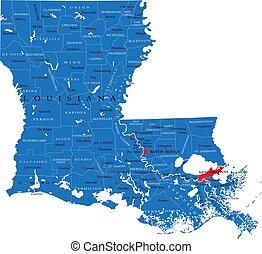Louisiana state political map
