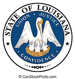 The US State of Louisiana Seal on a white background