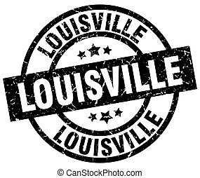 Louisville black round grunge stamp