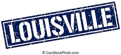 Louisville blue square stamp
