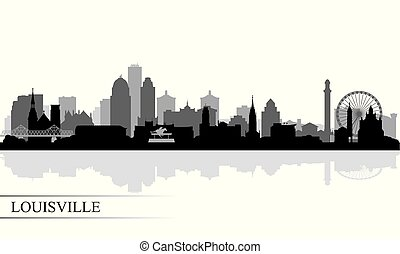 Louisville city skyline silhouette background, vector...