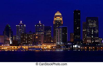Louisville, Kentucky night skyline - Louisville, Kentucky ...