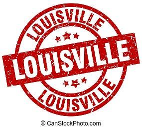 Louisville red round grunge stamp