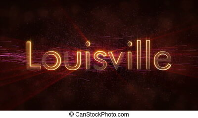 Louisville - Shiny looping city name text animation -...