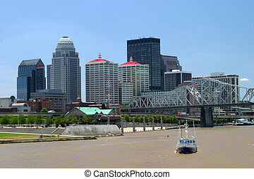 Louisville Skyline - downtown louisville kentucky as viewed...