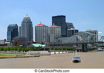 Louisville Skyline - downtown louisville kentucky as viewed ...