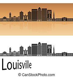 Louisville skyline in orange