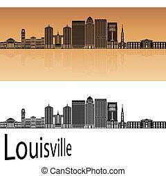 Louisville skyline in orange