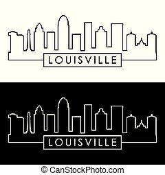 Louisville skyline. Linear style.