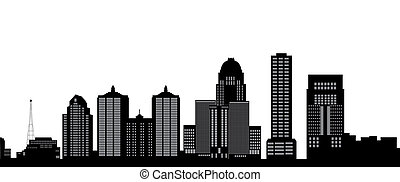 louisville skyline with buildings i