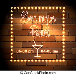 Lounge Bar neon Sight