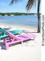 lounge, cadeiras, praia