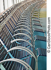 Lounge Chairs - Empty lounge chairs on a cruise ship