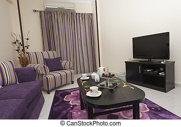 Lounge in a luxury apartment - Living room lounge in a ...