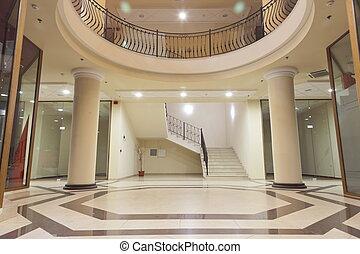 lounge of a shopping mall - interior - lobby of a upper...