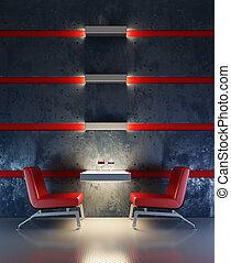 lounge room interior - 3d rendering interior lounge room