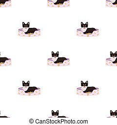 Lounger for a pet, a sleeping place. Dog,care of a pet single icon in cartoon style vector symbol stock illustration web.