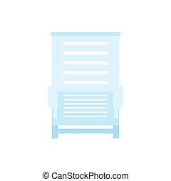 Lounger. Icon on isolated background