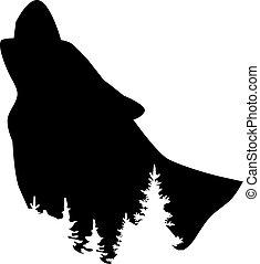 loup, forêt