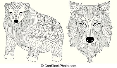 loup, ours blanc