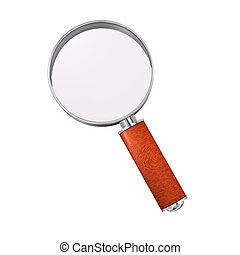 A loupe on the white background. 3d illustration.