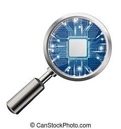 Loupe Blue Microchip