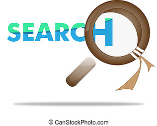 loupe, magnifying glass on search