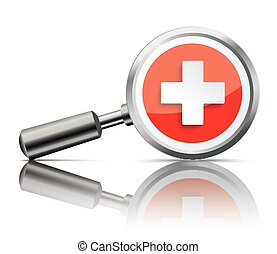 Loupe Mirror Health Hospital Cross