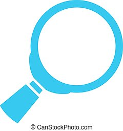 Loupe vector icon - Loupe lens vector icon