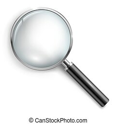 loupe., verre., magnifier, hand-glass.