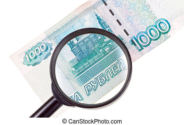 loupe zoom banknote