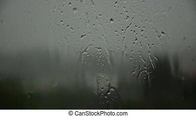 lourd, 22., pluie, pluie, dehors., dépression, mélancolie