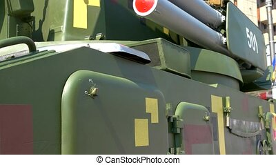 lourd, camion, militaire, weapon.