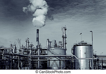 lourd, industrie, installation, usine