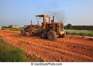 lourd, machine, classeur, workin, véhicule