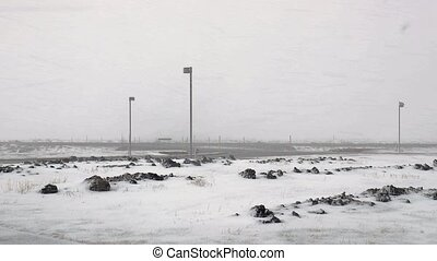 lourd, neiger orage, vent