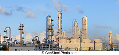 lourd, plante, propriété, industrie, usine, raffinerie