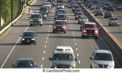 lourd, timelapse., traffic.
