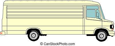 lourd, vecteur, camion