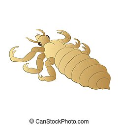 Louse color illustration isolated on white background.