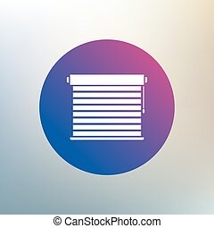 Louvers sign icon. Window blinds or jalousie symbol. Icon on blurred background. Vector
