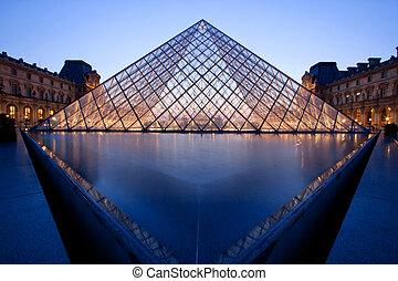 Louvre Museum Paris - PARIS - APRIL 16: Landscape of Louvre...
