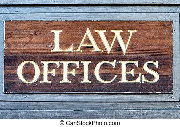 lov, kontorer, tegn